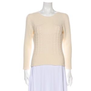Diane Von Furstenberg DVF ivory sweater